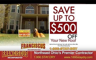 Find out how to save up to $500 off your new roof!.